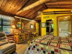 What an old fashioned cabin should be..420 sq. feet of magic. Very intimate and cozy.