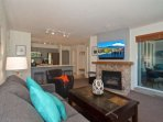 Access to sundeck through sliding doors off the living room