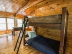Loft Area features Twin Bunk Bed