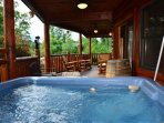 Relax and Unwind in the Hot Tub at Kozy Lodge