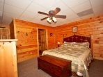 Lower Level Bedroom #3 features King Bed, Flat Screen TV and Private Bath!
