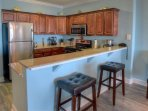 Fully equipped kitchen with Stainless Steel Appliances!