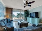 Relax and watch your flat screen after a long day at the beach!