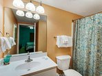 Second bathroom with shower/tub combination!