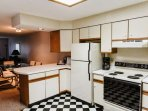 As you enter the property, take a minute to take in this fully equipped kitchen with refrigerator, electric stove ...