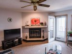 Living room with flat screen TV. Head out the door - Lake Delton awaits the pleasure of your company!