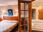 Jacuzzi just through the french doors for your pleasure.