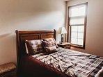 2nd bedroom - main level - queen bed.