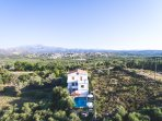 The Villa is located a few minutes away from the lively village of Panormo.
