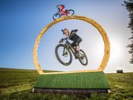 Red Bull filmed Danny MacAskill's Hay Bale trick here at The Arches. Google 'Wee Day Out' to watch