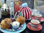 Enjoy at Cream Tea at Tea on the Green in the Village