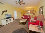 Relax after a an Amazing Day at The Beach in this Spacious Living Room with Flat Screen TV and Breathtaking...