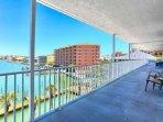 Private balcony overlooking the marina.