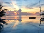 Beautiful Sunset at our infinity Pool