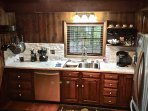 Kitchen is open, bright, and fully stocked with all you will need to prepare your meals...
