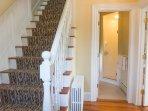 Stairway and 1st floor bathroom
