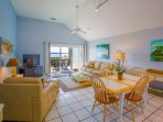 Delight in your bright, airy, comfortable villa with stunning beachfront views!