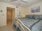 Master Bedroom has king size bed.