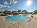 Soak up the sun by the community pool.