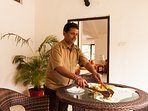 The in-house cook who will delight your taste buds with easy Indian home food he is open to requests