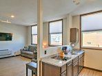Relax around the Sturgis Main Street at this 1-bedroom, 1-bathroom vacation rental apartment.
