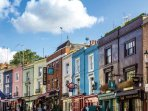 Portobello market is another of Nottinghill's most famous sights.