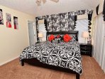 Master Suite 1 with King Bed and En-suite bathroom;