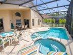Enjoy the south Facing Pool & Jacuzzi; sun, sun, sun!