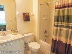 Master Suite 2 en-suite Bathroom; bath with shower over