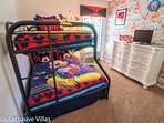 ickey Themed Bedroom with TV and triple bunk sleeping 3; the magic of the Mouse!