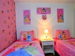 Princess themed bedroom is sure to appeal