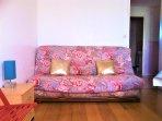 Canapé-lit 2 places, matelas en bon ultra confort