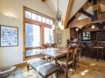 Formal dining room has seating for six (6) people, large windows and access to the outdoor deck. Situated just off of...
