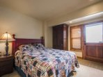 The fourth bedroom suite is equipped with a king size bed, large closet, armoire, nightstand and access to the third...