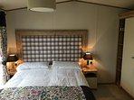 Master bedroom King Size bed with 13.5 tog duvet