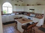 The kitchen is fully equipped with e.g. dish washing machine, refrigerator, cooker and microwave