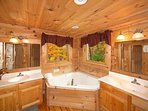Master Bathroom at Big Bear Lodge