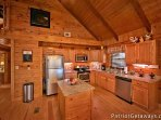 Kitchen with Stainless Steel Appliances at Pigeon Forge Pleasures