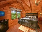 Lofted King Bedroom at Pigeon Forge Pleasures