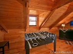 Loft Area with Foosball Table at Pigeon Forge Pleasures
