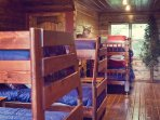 The kids love the bunk room. 2 sets of twin over full 1 set of twin over twin.