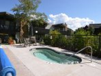 Relax in the hot tub after your Snowmass adventures.  Bring over some lunch and sit poolside under the bright Colorado...