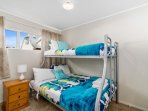 2nd bedroom with bunks - double & single on top