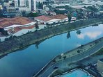 Marikina river view around the Circulo verde project.