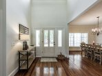 Beautiful entry with cathedral ceilings - lots of bright natural light in this beautiful home!