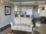 The open living area encourages everyone to be involved.