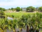 The views of the lagoon and golf course are beautiful.