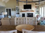 The open living area allows everyone to be involved in the activities.