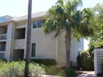 This 2nd floor villa has 3 bedrooms/3 baths and great views of the marsh.