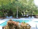Relax and enjoy the quiet while cooling off in the pool waters.